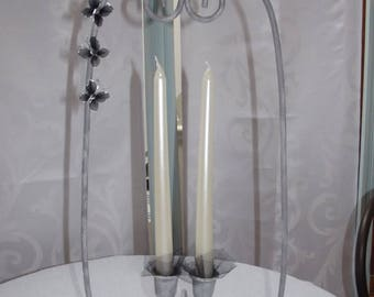 ROMANTIC CONTEMPORARY PATINA CANDLE HOLDER