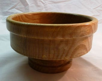 Fruit bowl on food lacquer finish - handmade turning wooden base