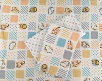 Crib sheet and 2 swaddle blankets