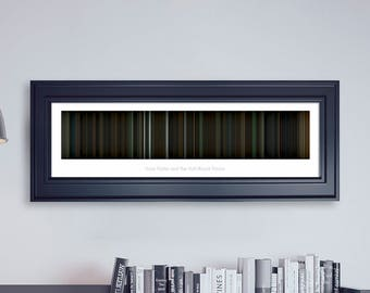 Harry Potter and the Half-Blood Prince // Movie Poster // Movie Barcode // Harry Potter Print // Wall Decor // Panoramic