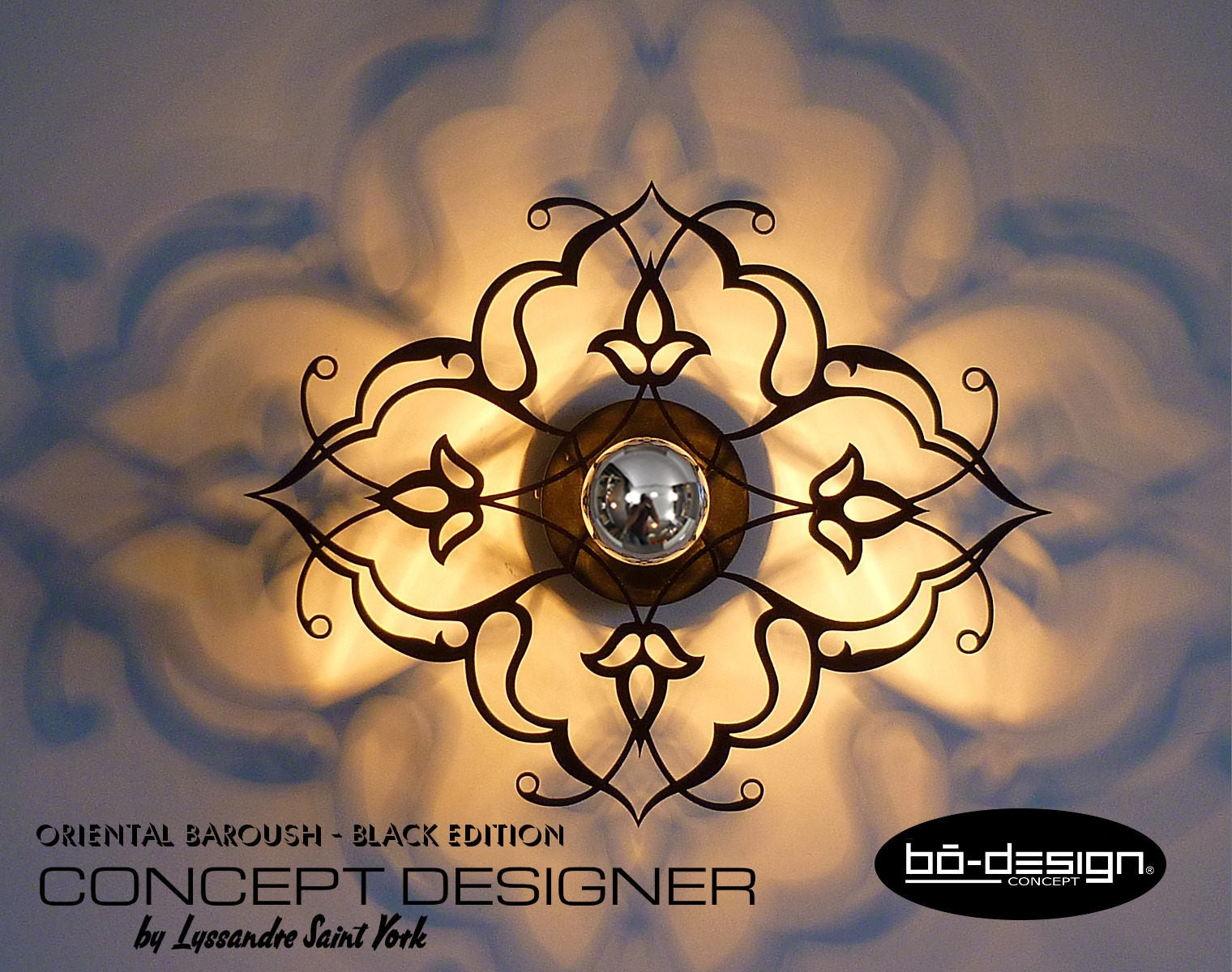 applique luminaire murale orientale design baroush modele. Black Bedroom Furniture Sets. Home Design Ideas