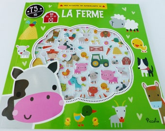 Kids activity book shut with 75 3D stickers