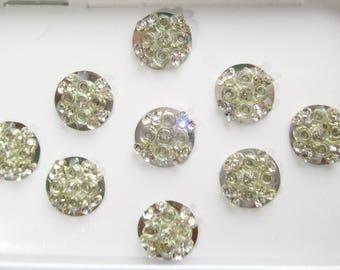 9 Round Silver Bridal Bindis Face Jewels,Self Adhesive Stickers,Stone Bindis,Silver Bindis,Bollywood Bindi,Wedding Round BindisIndia Bindis,