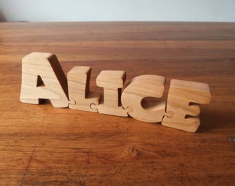 Letters puzzle wooden Birch - word puzzle - name Puzzle - personalized gift