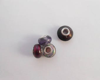 Beads charms glass lampwork 14 x 10 mm