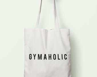 Gymaholic Tote Bag Long Handles TB1463