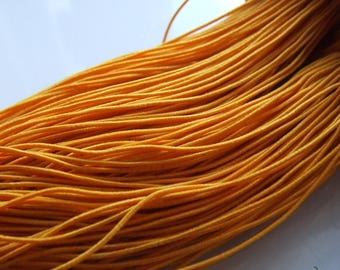 27 YARDS OF ELASTIC CORD MADE OF RUBBER ORANGE 1 MM
