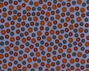 patchwork flowers 431farm beige background fabric