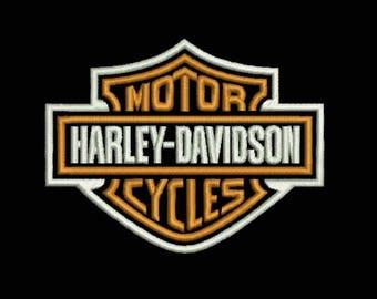 Harley Davidson® logo patch. Machine Embroidery Design 2 size. Instant Download.