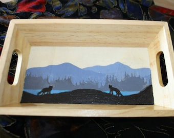 tray wood wolves