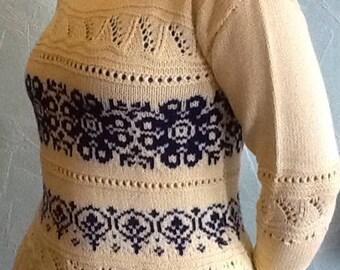 Sweater handmade cotton size 42
