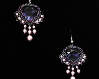 Earrings Purple sky