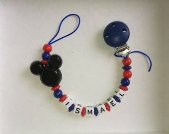 Blue and Red Mickey head pacifier