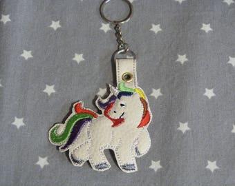 Unicorn leather keychain
