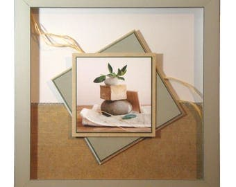 Very zen frame for a bathroom, or other!