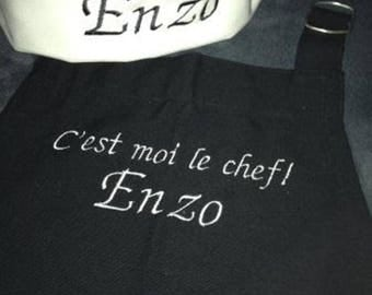 Genuine apron chef for child to personalize