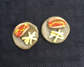 Miniature Hot Dog and French Fries