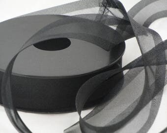 Black organza fabric