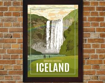 Iceland - Vintage Travel Poster