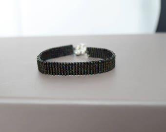 Black hand woven miyuki Beads Bracelet