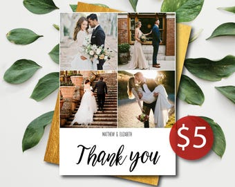 Thank You Card Wedding Photo   PHOTO   Wedding Thank You Cards With Photo   Thank You Card With Picture   Thank You Cards With Photo