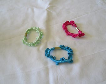 set of 5 hair scrunchies