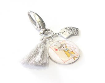 Keychain grigri the HATTER special Alice in Wonderland country