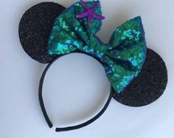 Ariel inspired ears little mermaid ears
