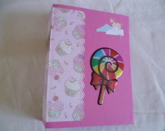 Pink girly color photo album