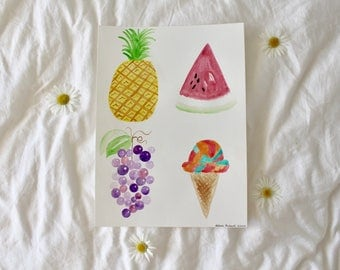 Fruit and Icecream Painting