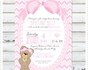 Teddy Bear Baby Shower Invitation