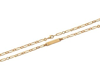 Plated mixed chain bracelet gold 16 cm / 63185716
