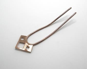 Square copper hairpin