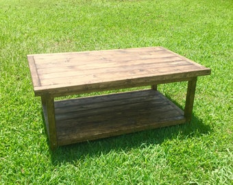 Rustic Coffee Table / Wooden Coffee Table / Farmhouse Style