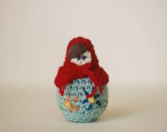 Crochet Russian Matryoshka (Nesting) Doll Keychain/Ornament