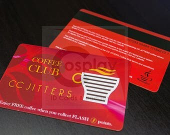 CC JITTERS Coffee Loyalty Card, Central City, Barry Allen, The FLASH