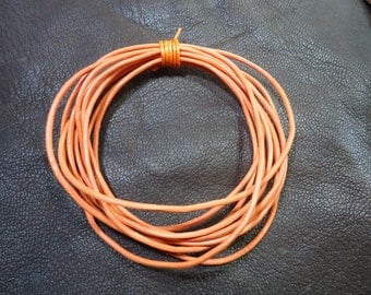 Orange leather cord 2 m