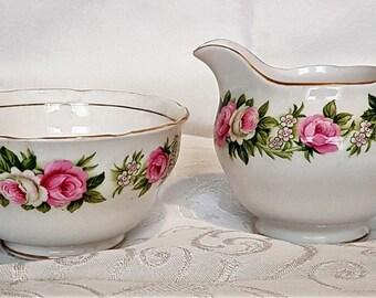 Vintage Colclough Enchantment pattern  milk jug and sugar bowl