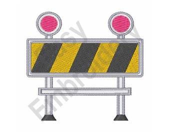 Construction Barricade - Machine Embroidery Design