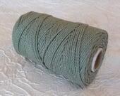 Cotton cord. Twisted cotton cord. Cotton rope. Macramé -  Corde macramé - Bobine de corde en coton 100% - 3 mm - vert avocat.