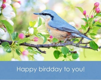 Verjaardagskaart Happy birdday