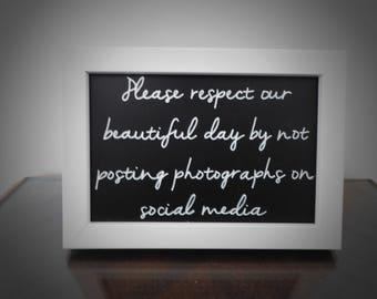 Wedding social media sign