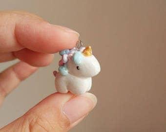 Unicorn Polymer Clay Charm