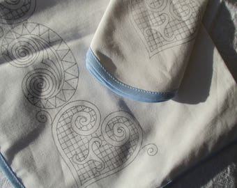 embroidered placemat embroidery hearts with his towel patterns