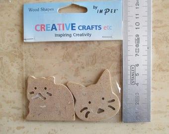 scrapbooking wooden cat