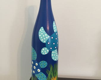 Blue sea turtle bottle