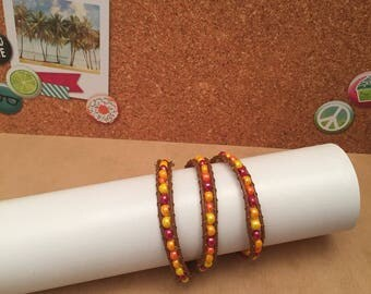 Yellow and orange Wrap bracelet