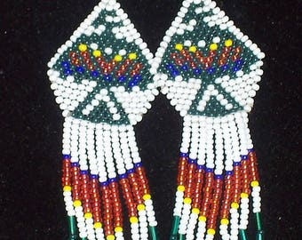 Native American Beaded Thunderbird Earrings