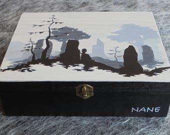 Outlander jewelry box, wooden Outlander jeweler box, hand-painted wooden jewelry box, wooden box, storage of jeweller and costume jewelery