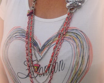 METAL NECKLACE chains *.
